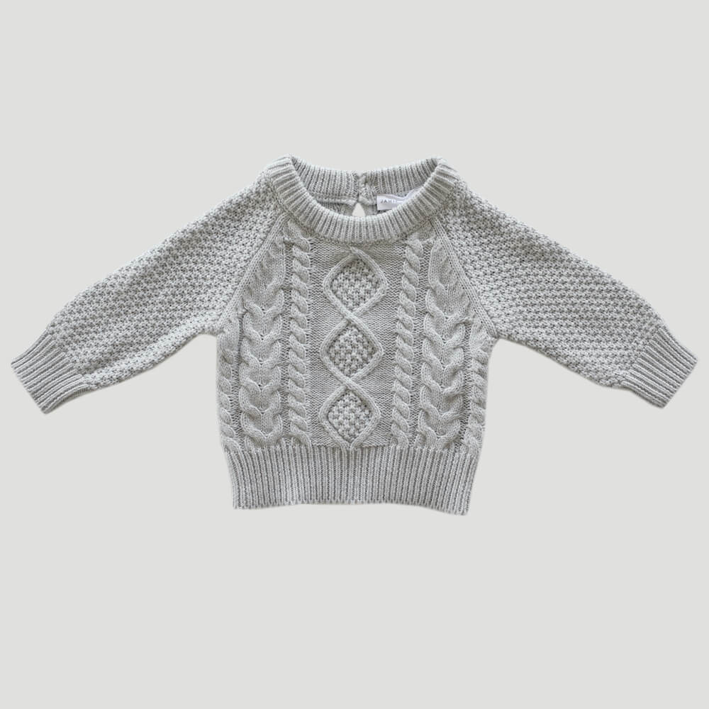 Jamie Kay Carter Knit Powder Fleck | Tiny People