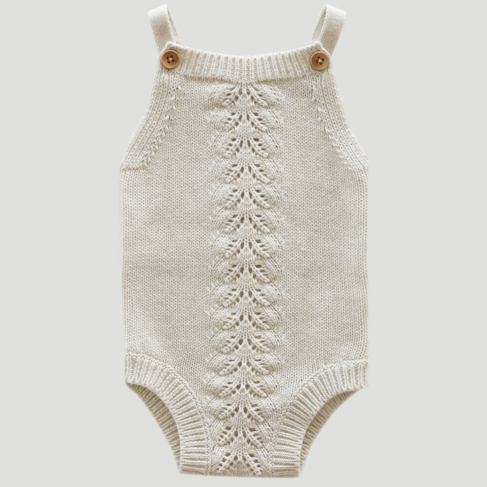 Jamie Kay Casey Playsuit Oatmeal Marle | Tiny People