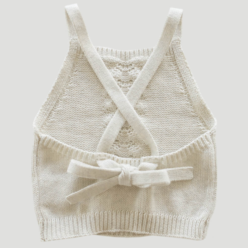 Jamie Kay Josie Top Oatmeal Marle | Tiny People