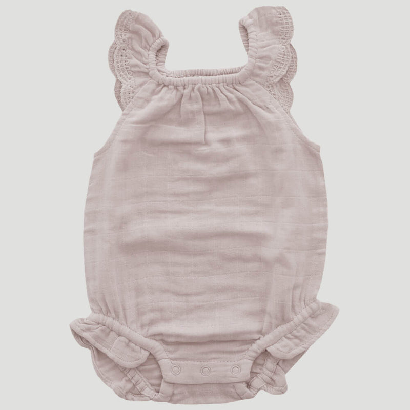 Jamie Kay Lace Playsuit Candy Floss | Tiny People