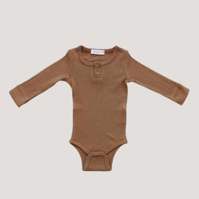 Jamie Kay Cotton Modal Bodysuit in Bronze at Tiny People shop.