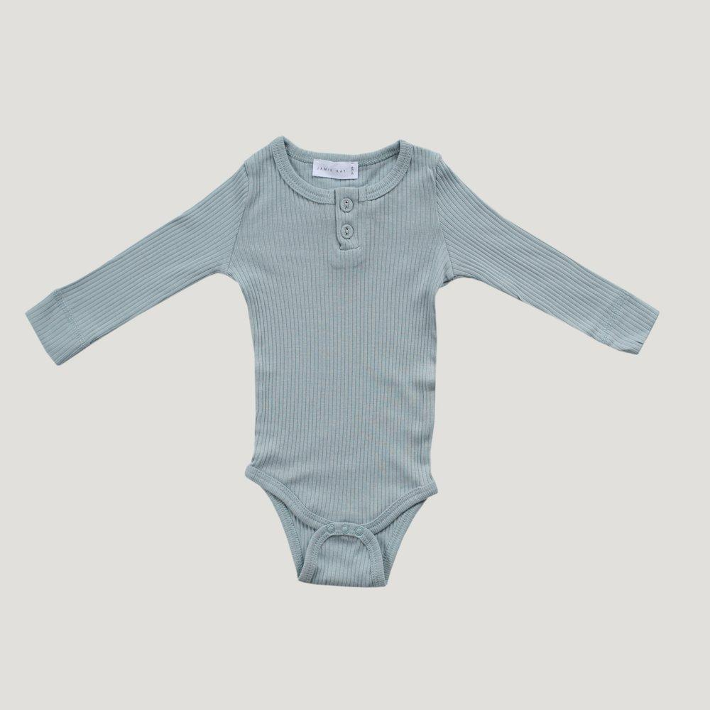 Jamie Kay Cotton Modal Bodysuit in Ether at Tiny People Shop Australia.