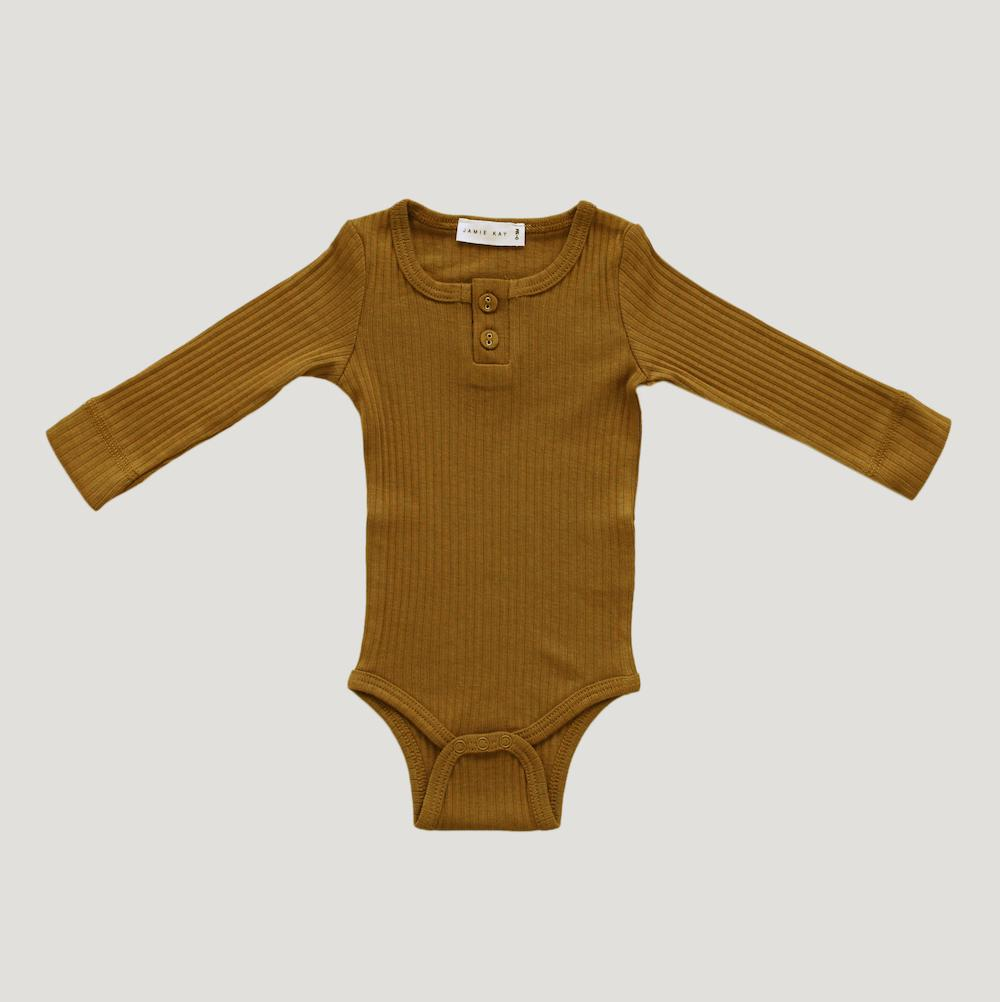 Jamie Kay Cotton Modal Bodysuit Golden Bodysuits - Tiny People Cool Kids Clothes