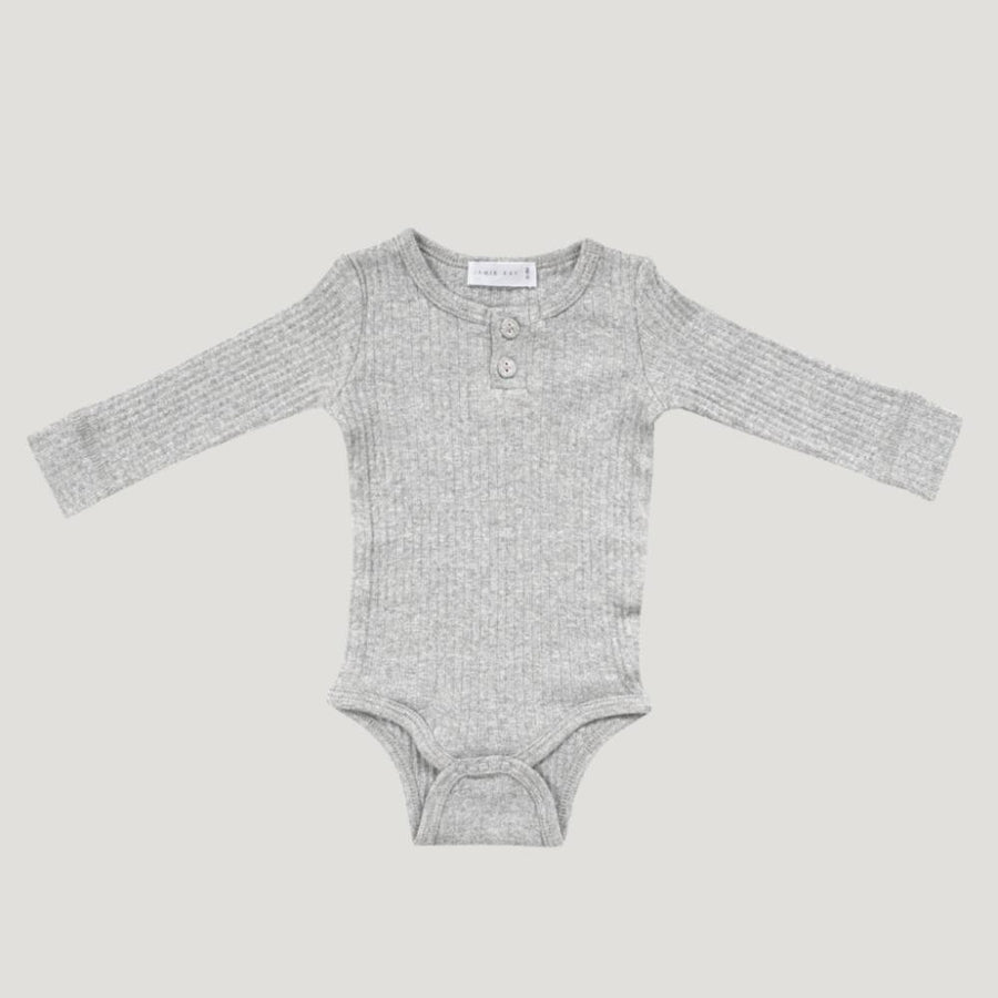 Cotton Essentials Bodysuit - Light Grey Marle