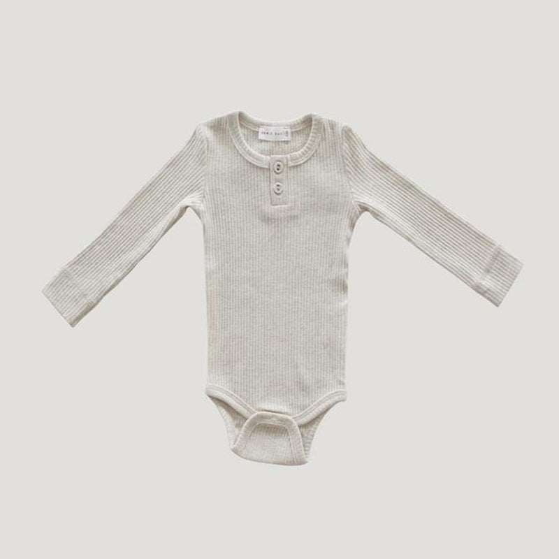 Cotton Modal Bodysuit Oatmeal Marle