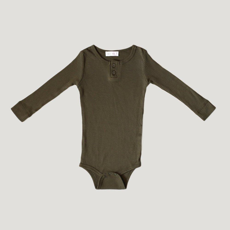 Cotton Essentials Bodysuit Olive