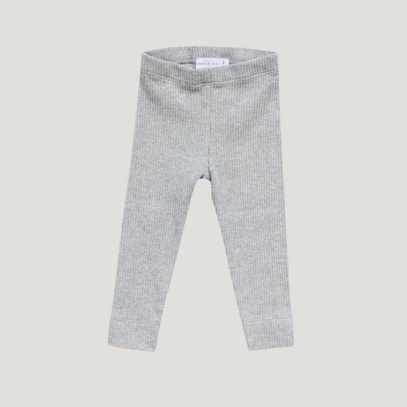 Jamie Kay Cotton Modal Leggings Light Grey Marle Pants & Leggings - Tiny People Cool Kids Clothes