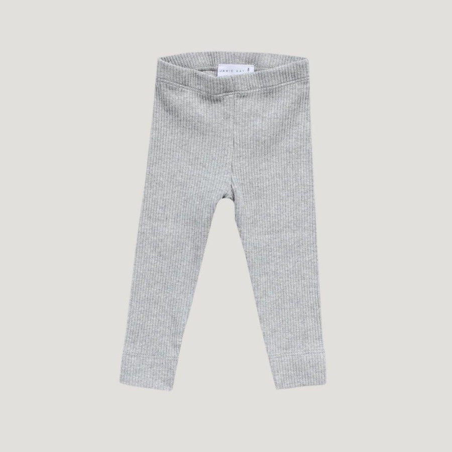 Jamie Kay Cotton Modal Leggings in Light Grey Marle at Tiny People Shop Australia.