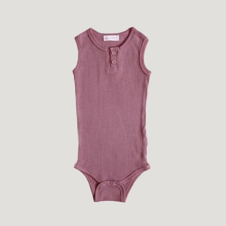 Jamie Kay Cotton Essentials Singlet Bodysuit - Vintage Rose - Tiny People Cool Kids Clothes Byron Bay