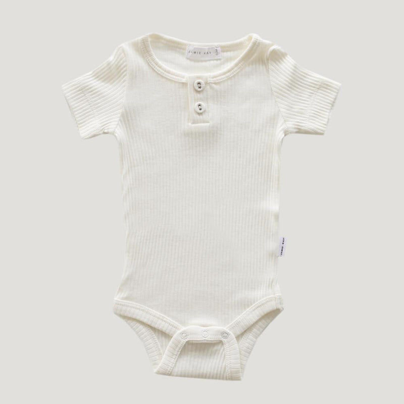 Original Cotton Modal Short Sleeve Tee Bodysuit Milk