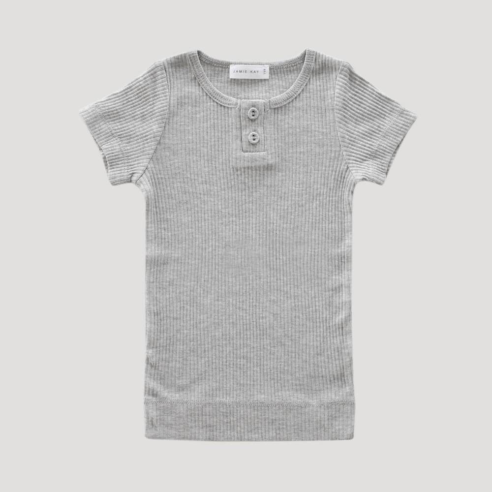 Original Cotton Modal Tee Light Grey Marle