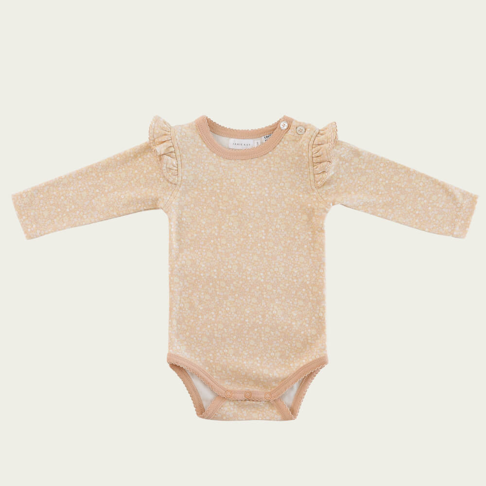 Jamie Kay Frill Bodysuit Meadow Floral | Tiny People