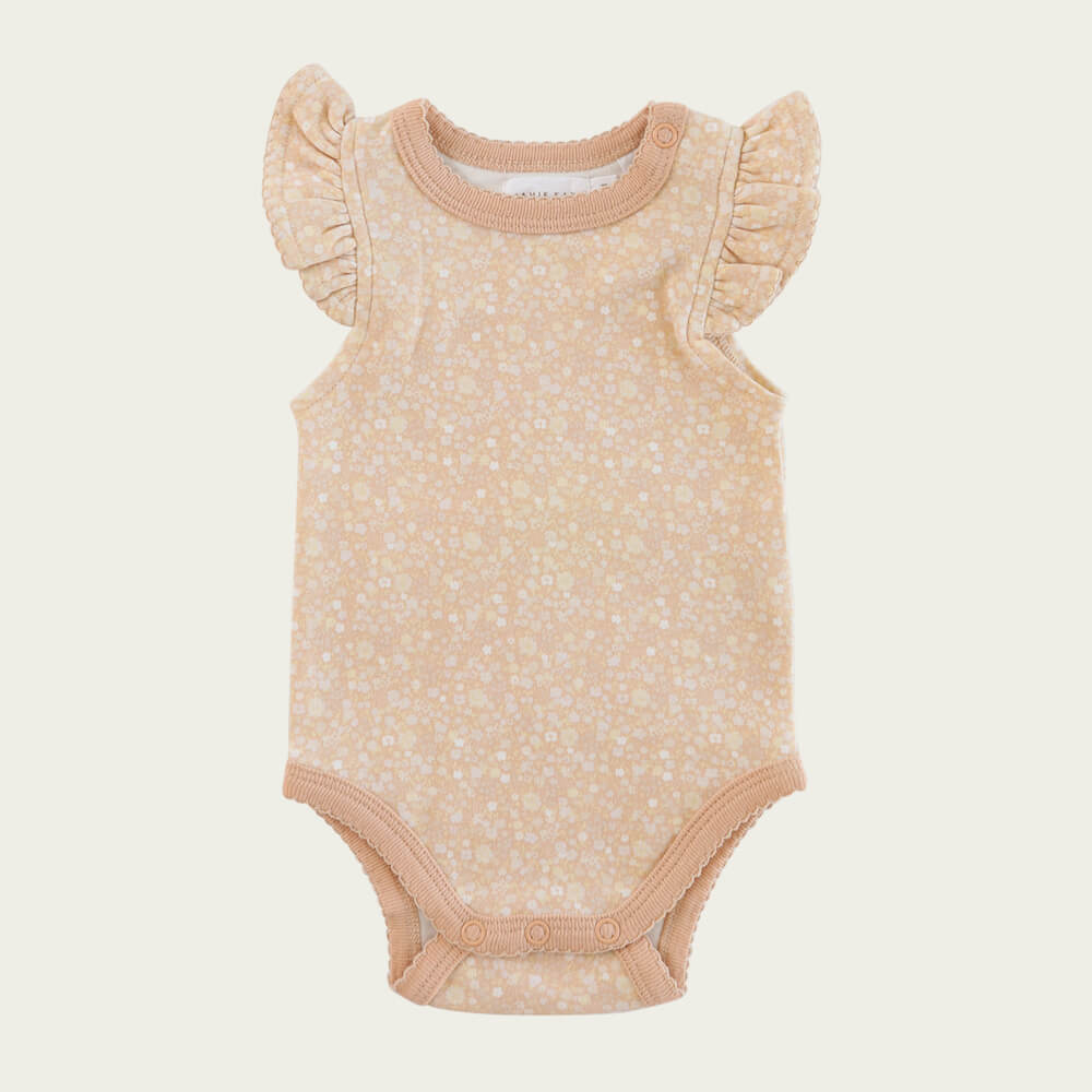 Jamie Kay Frill Singlet Bodysuit Meadow Floral | Tiny People