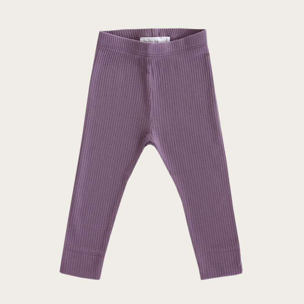 Organic Essential Leggings Grape