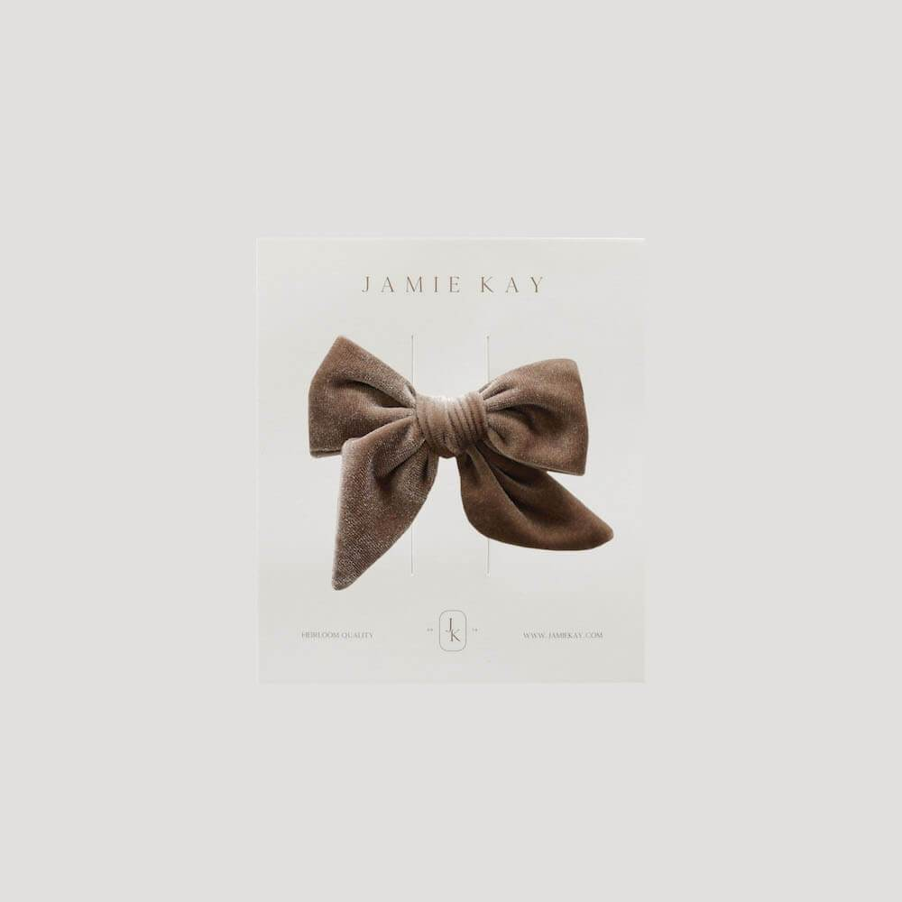 Jamie Kay Harper Velvet Bow Fawn Headbands / Hair Clips - Tiny People Cool Kids Clothes