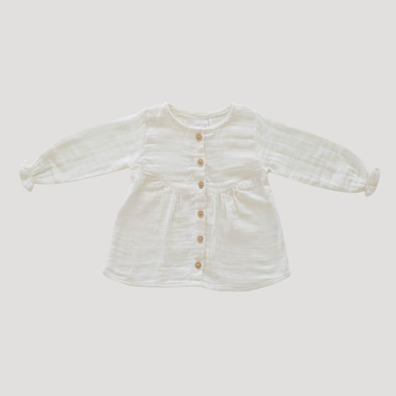 Jamie Kay Lila Blouse Cloud Baby Tops & Tees - Tiny People Cool Kids Clothes
