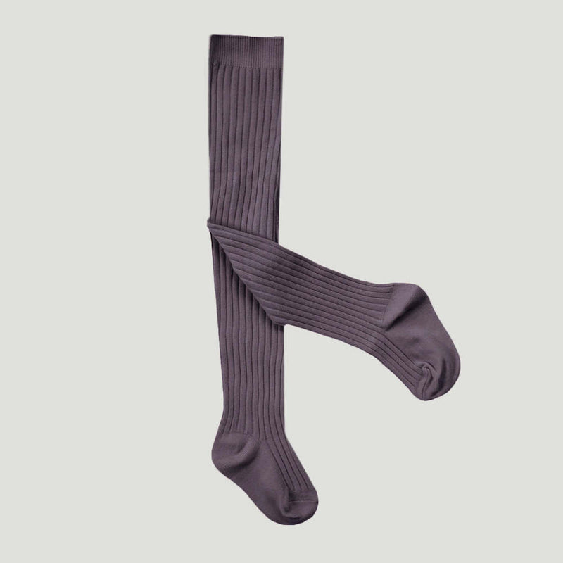 Ribbed Tights Elderberry