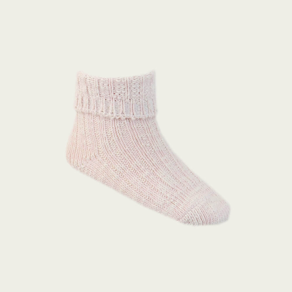Jamie Kay Marle Socks Blush Marle | Tiny People