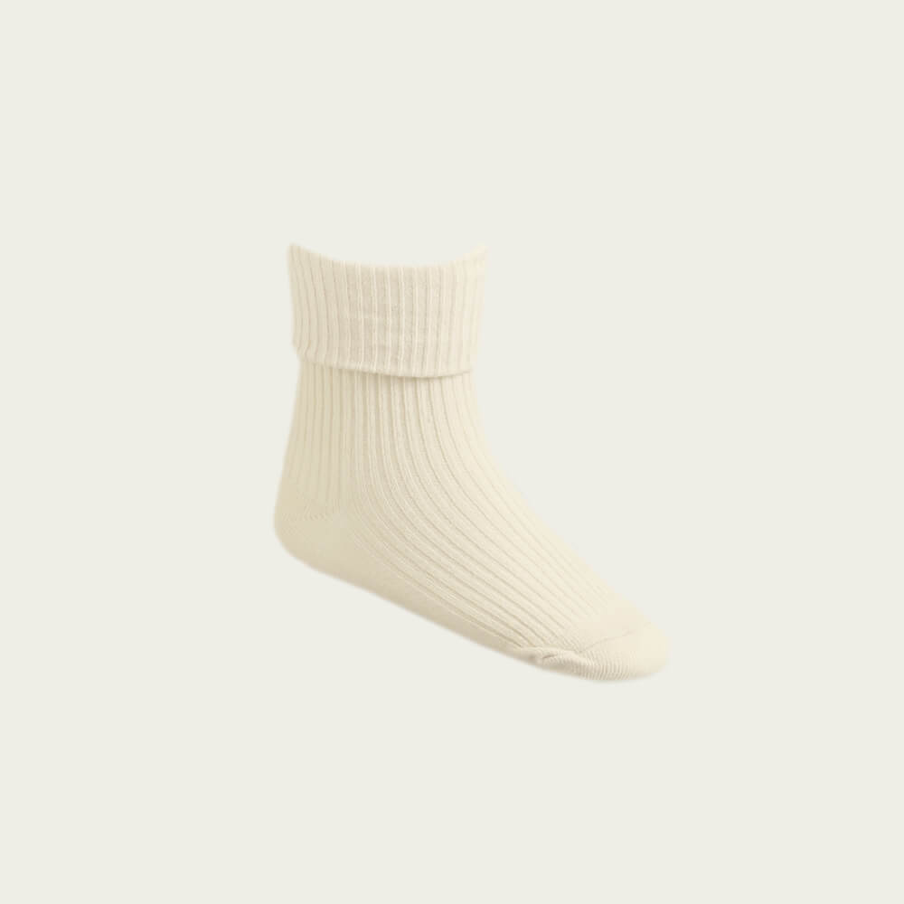 Jamie Kay Rib Socks Macadamia | Tiny People