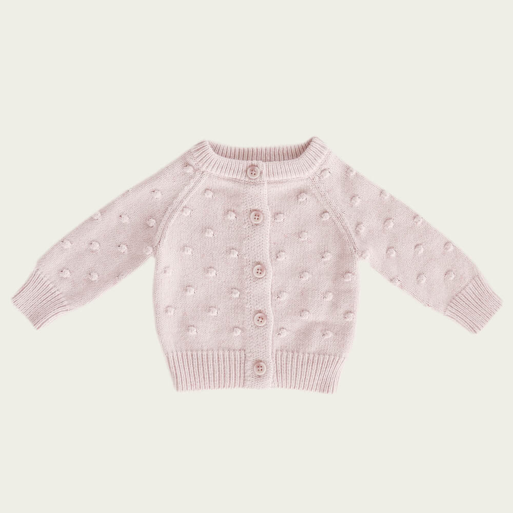 Jamie Kay Dotty Cardigan Old Rose Fleck | Tiny People