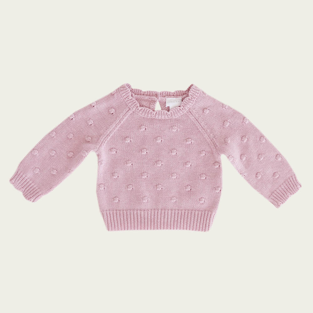 Jamie Kay Dotty Knit Rose Marle | Tiny People