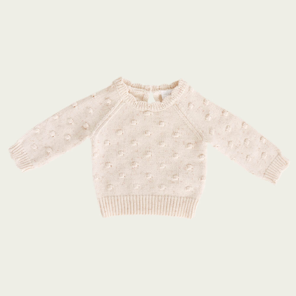 Jamie Kay Dotty Knit Apricot Fleck | Tiny People
