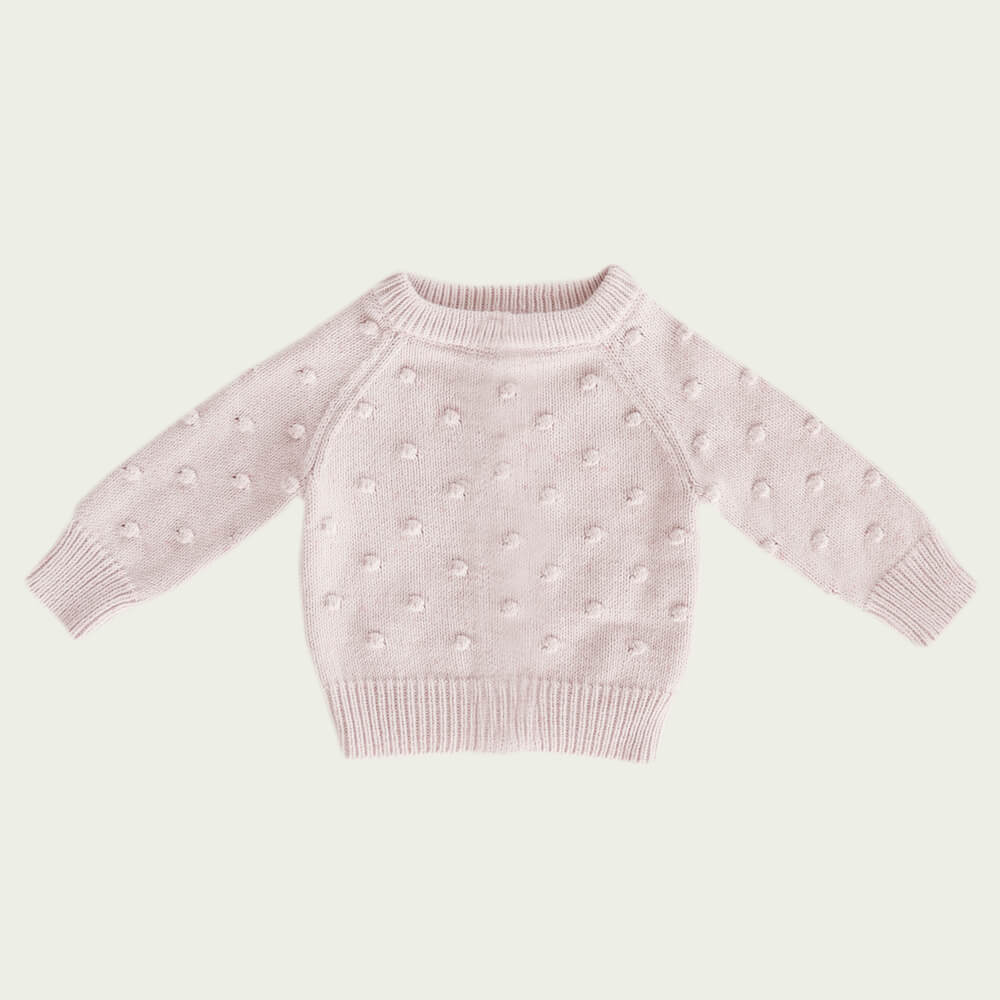 Jamie Kay Dotty Knit Old Rose Fleck | Tiny People