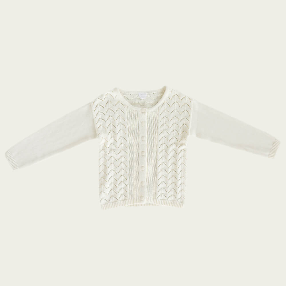 Jamie Kay Ellery Cardigan Snow | Tiny People