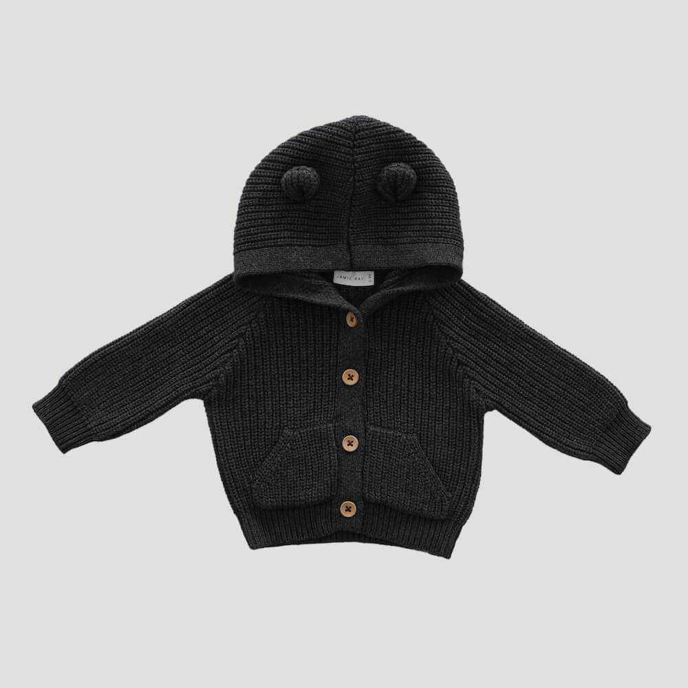 Bear Cardigan Shadow Marle
