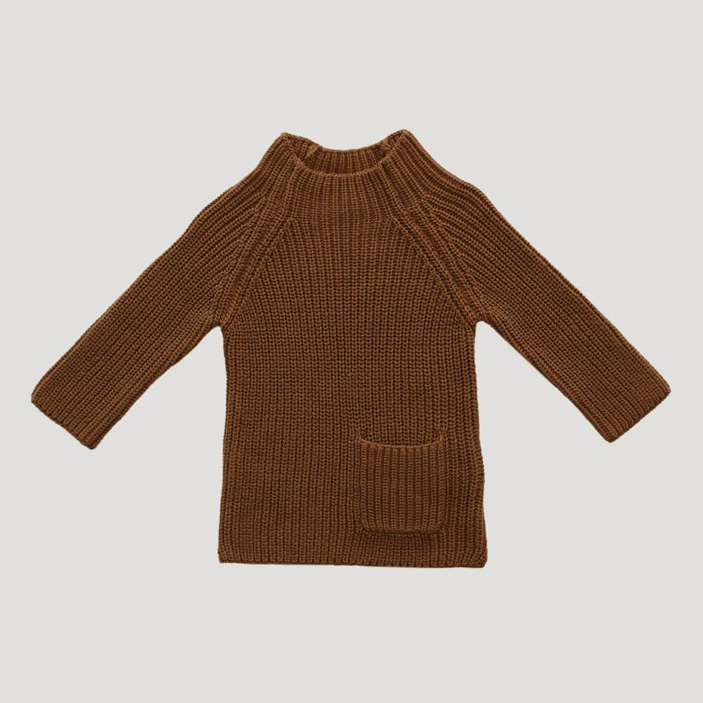 Jamie Kay Riley Knit Bronze Jumper - Tiny People Cool Kids Clothes