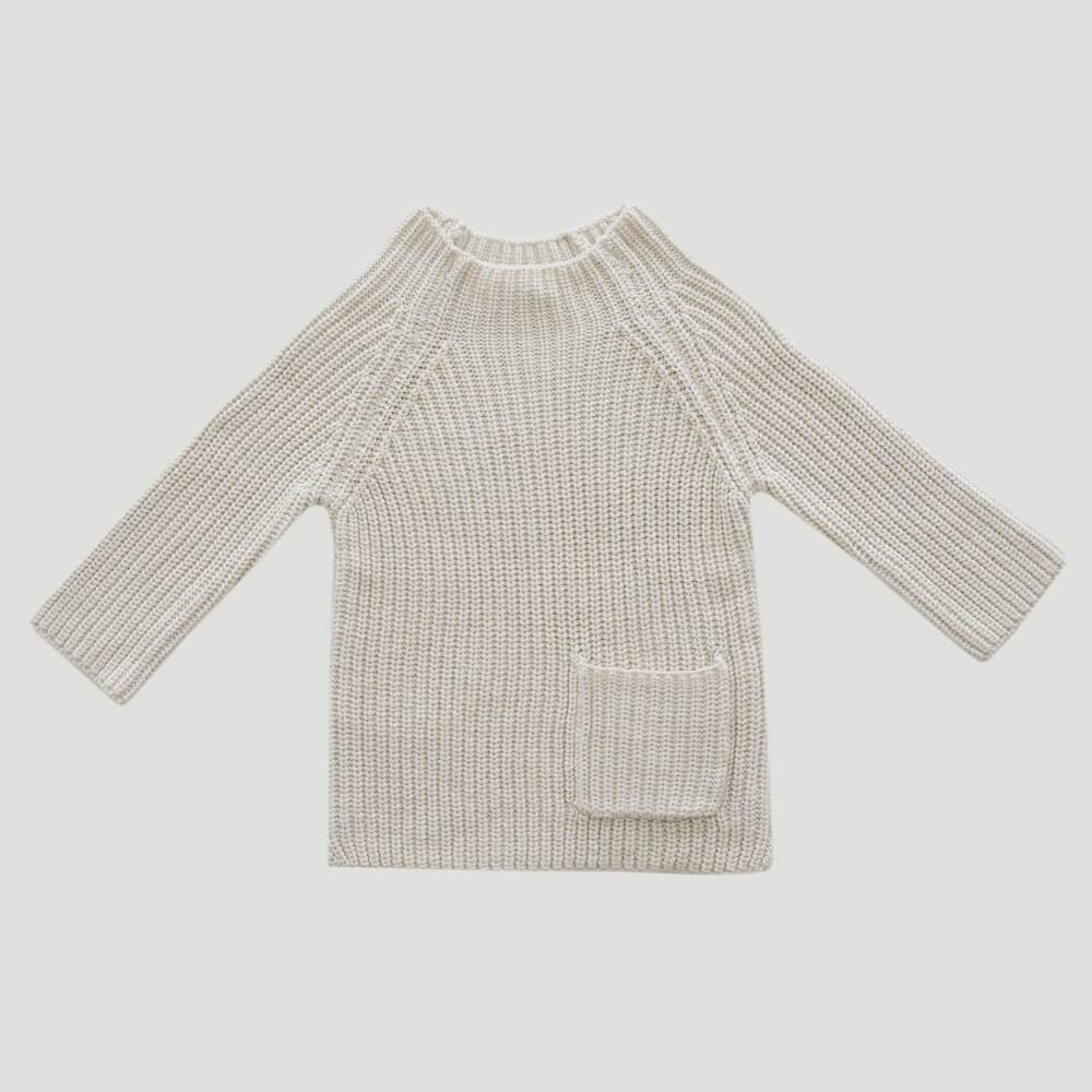 Jamie Kay Riley Knit Oatmeal Jumper - Tiny People Cool Kids Clothes