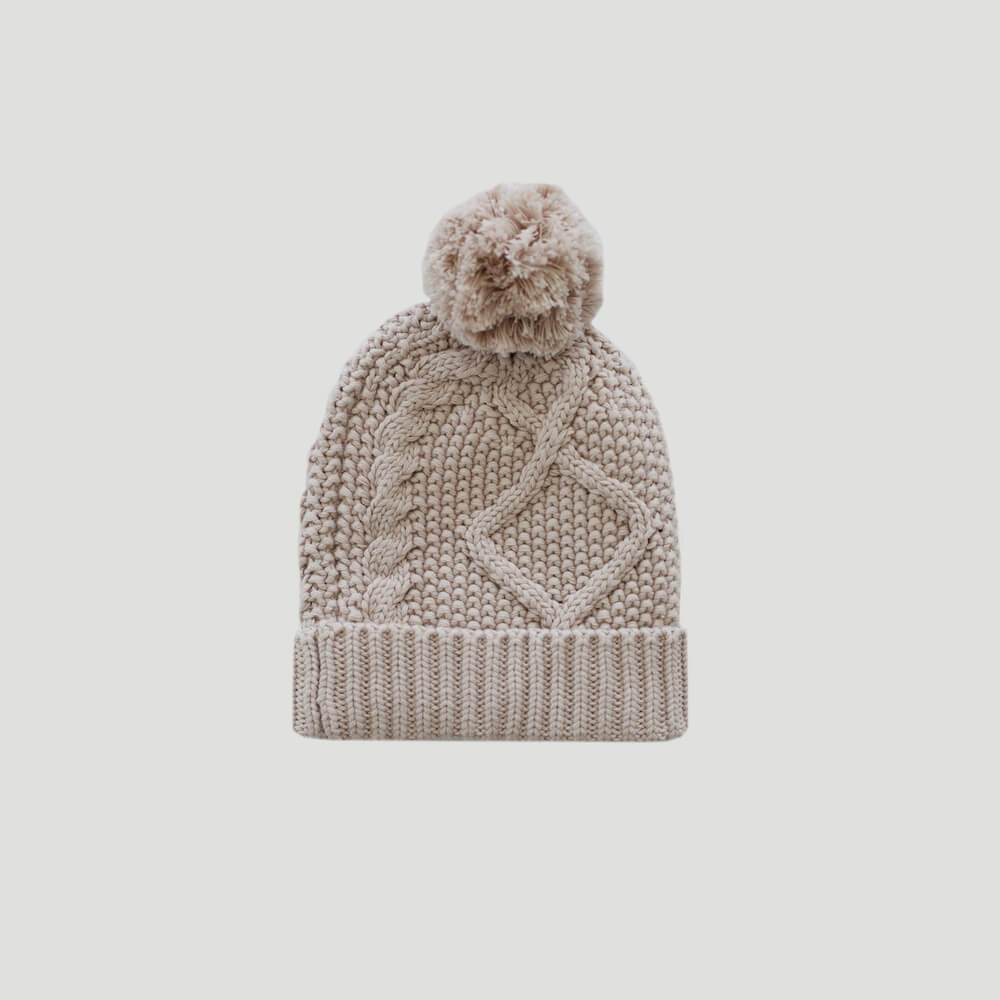 Cable Knit Hat Candy Floss