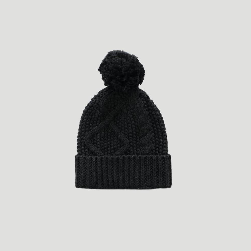 Cable Knit Hat Shadow Marle