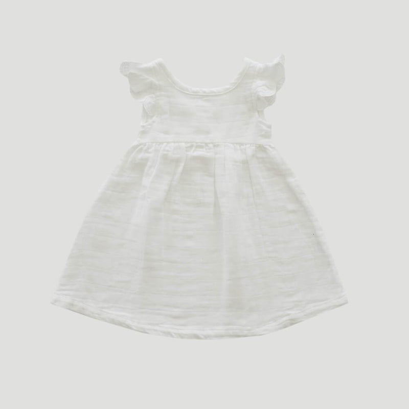 Cotton Muslin Lace Dress Coconut