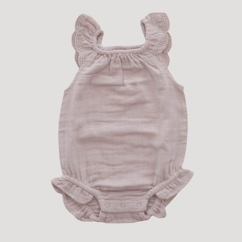 Jamie Kay Lace Playsuit Rosebud Romper - Tiny People Cool Kids Clothes