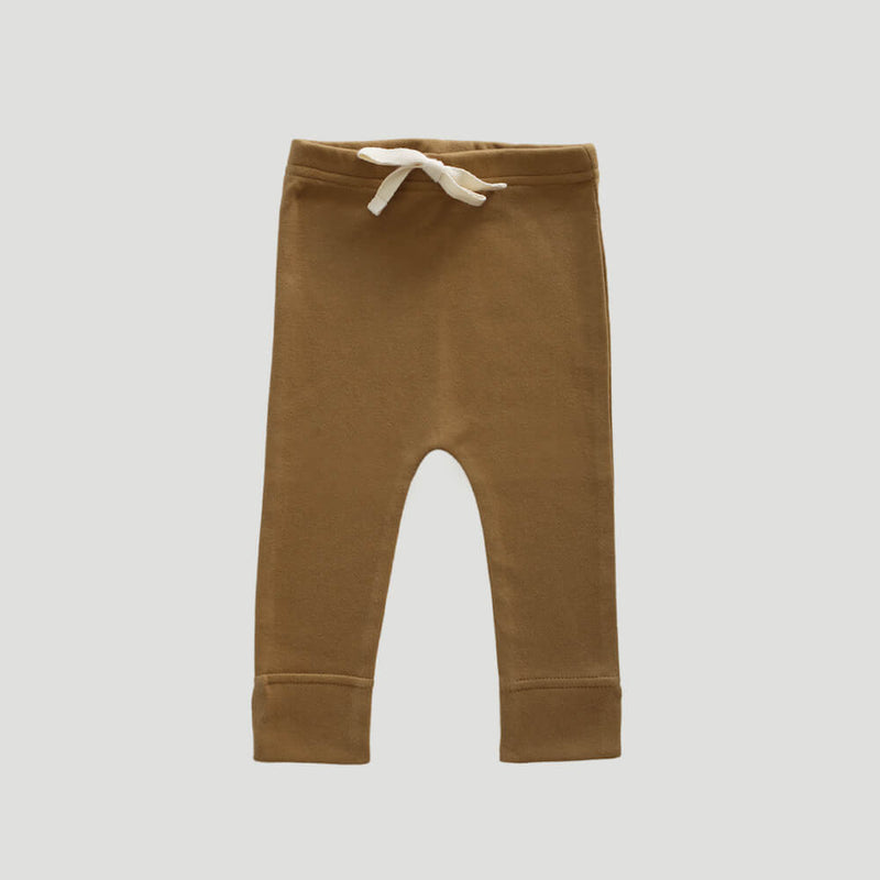 Organic Cotton Interlock Alex Pant Bronze