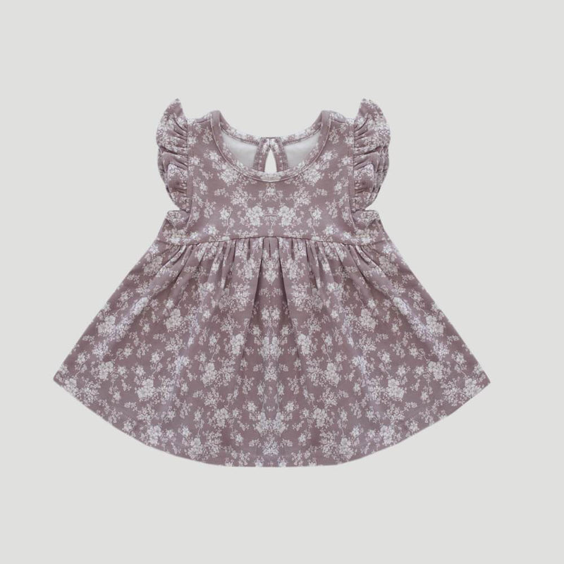 Organic Cotton Ada Dress Fawn Floral