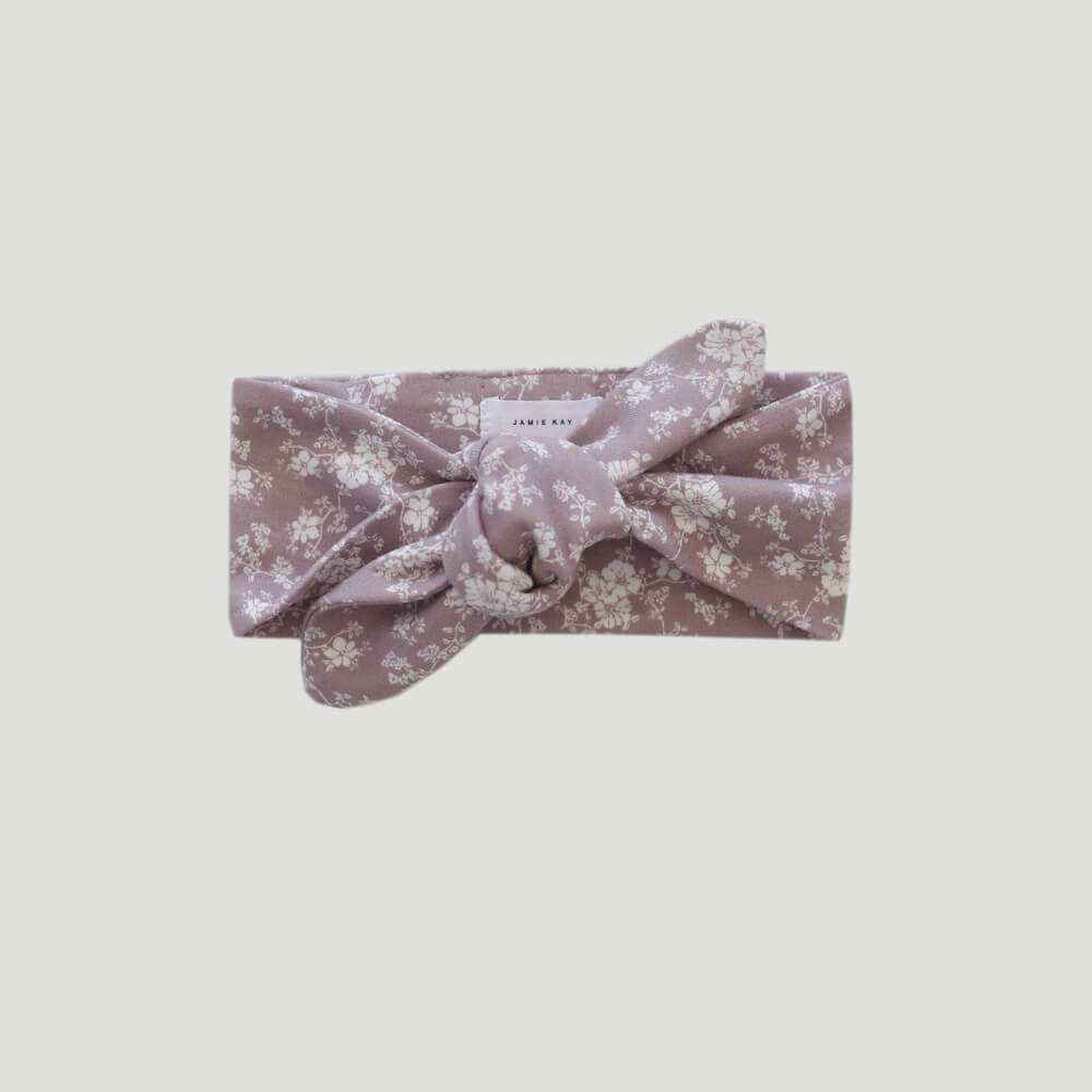 Organic Cotton Headband Fawn Floral