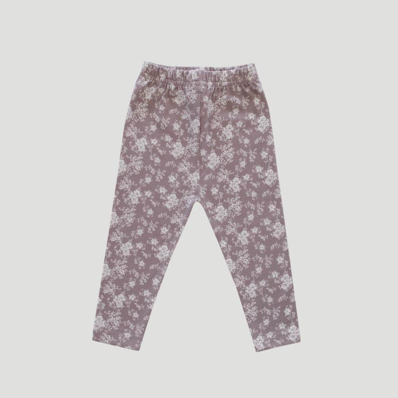 Organic Cotton Leggings Fawn Floral