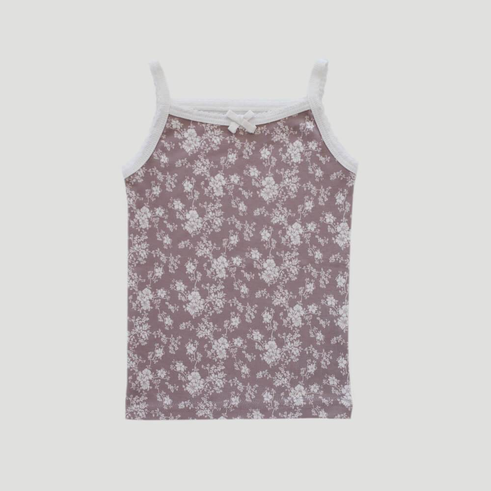 Organic Cotton Singlet Fawn Floral