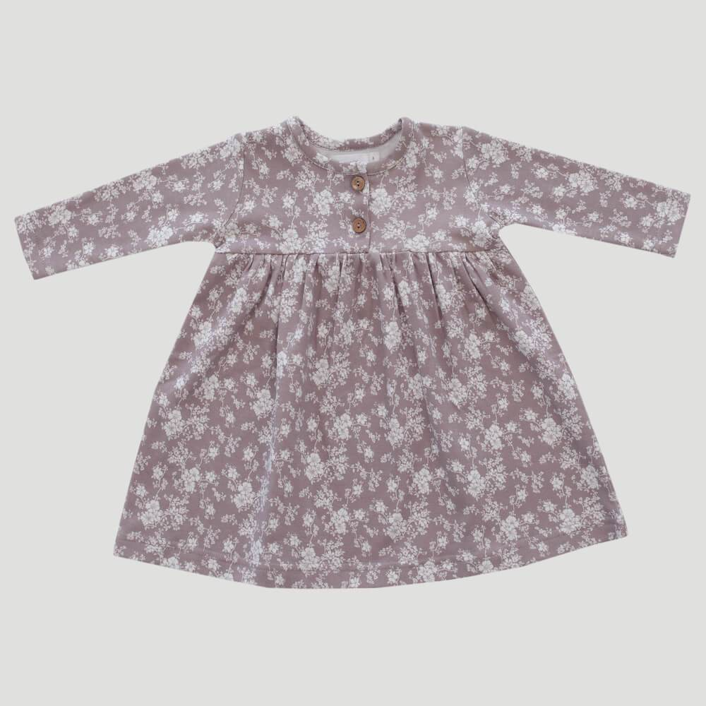 Organic Cotton Dress Fawn Floral