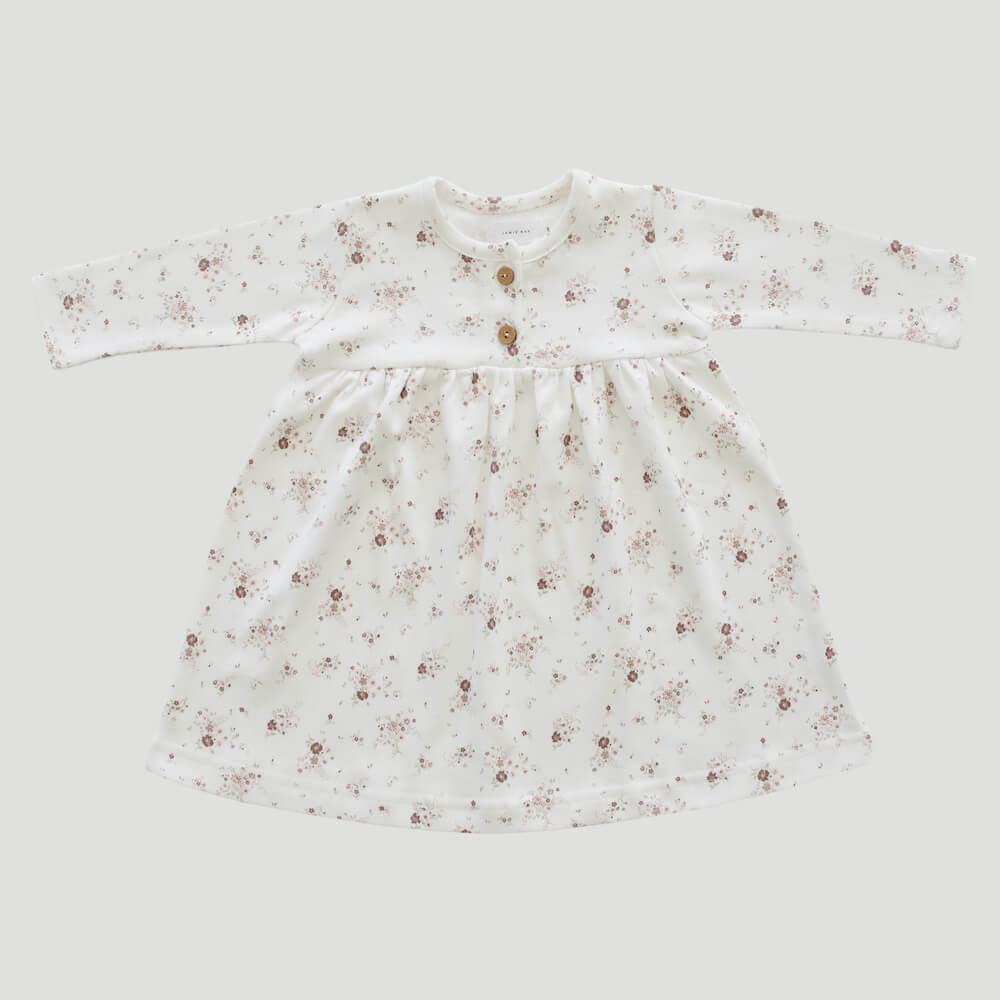 Organic Cotton Dress Sweet William Floral