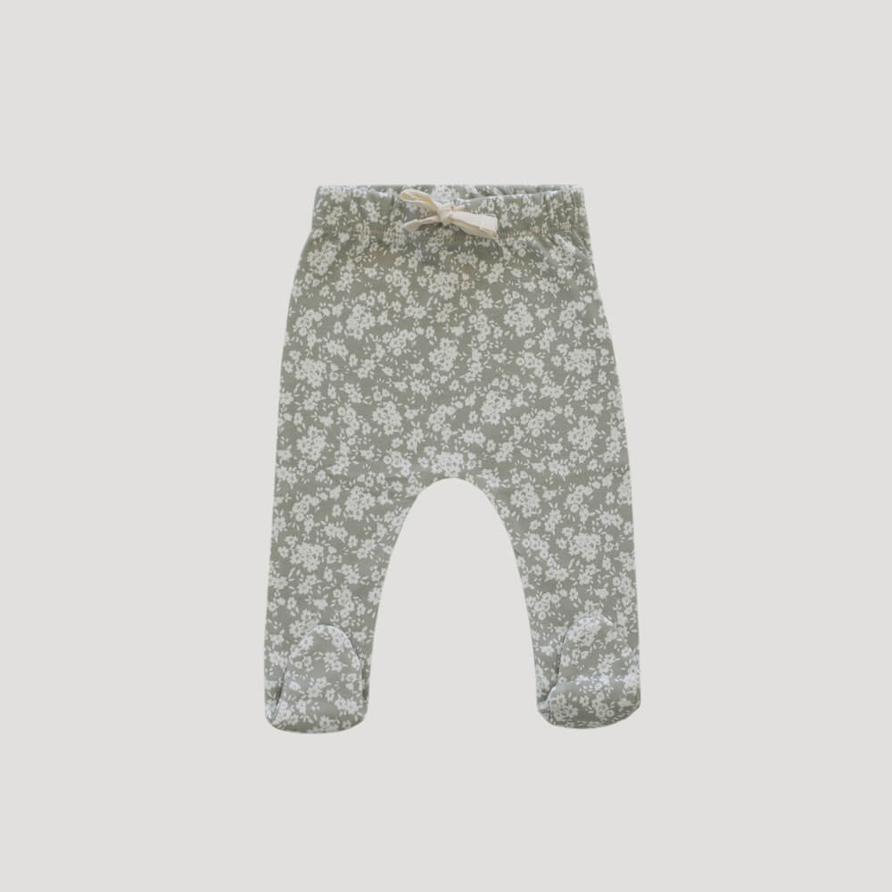 Organic Cotton Footed Pants Sadie Floral
