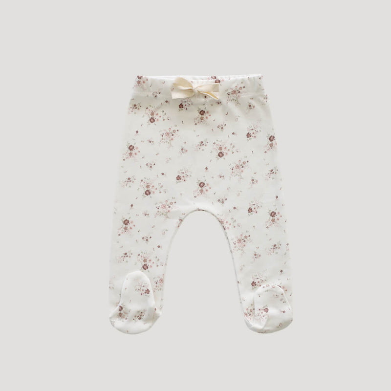 Organic Cotton Footed Pants Sweet William Floral
