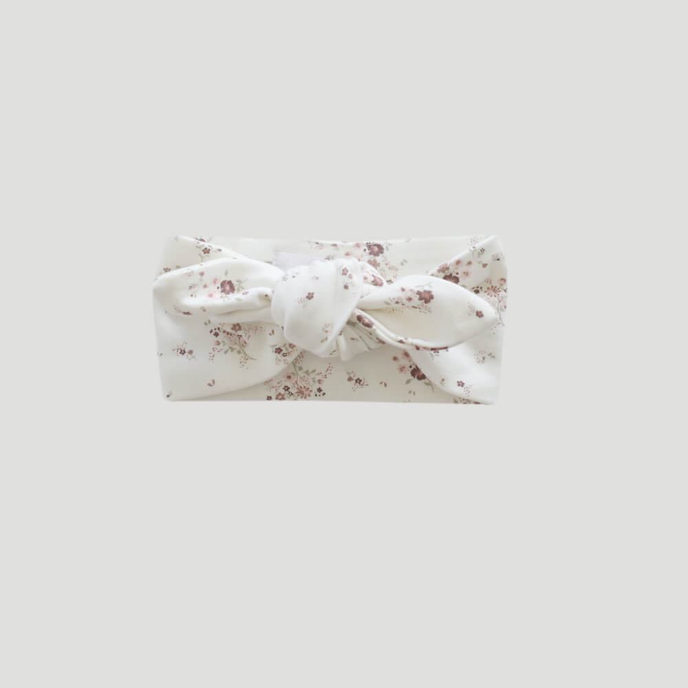 Organic Cotton Headband Sweet William Floral