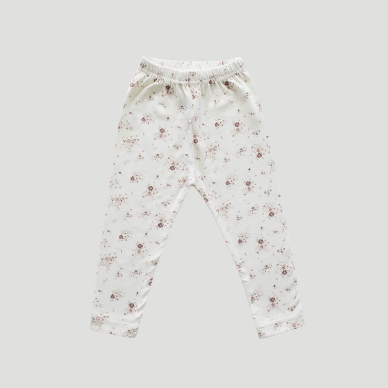 Organic Cotton Leggings Sweet William Floral