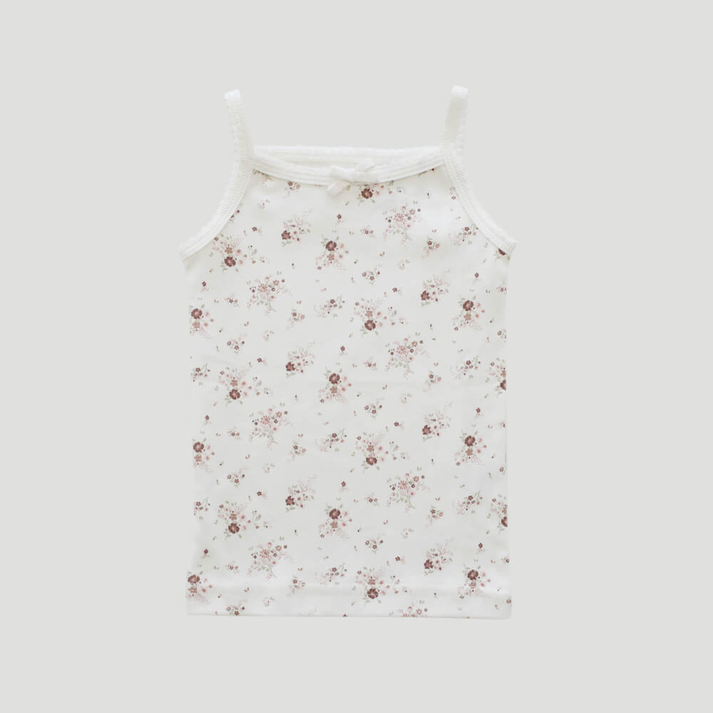 Organic Cotton Singlet Sweet William Floral