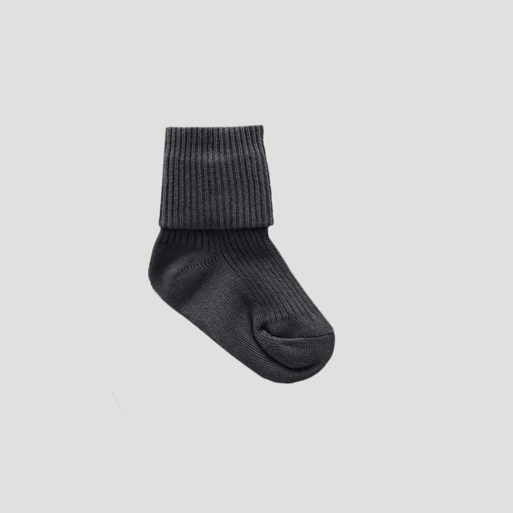 Jamie Kay Ribbed Sock Dark Grey | Tiny People