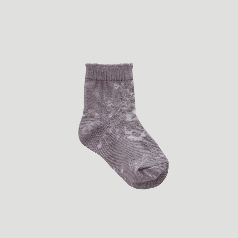 Jamie Kay Emme Floral Socks Fawn | Tiny People