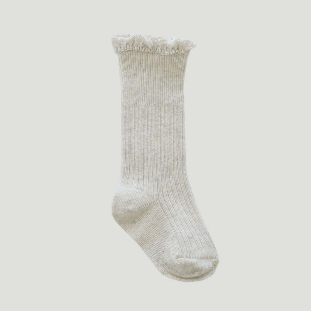 Jamie Kay Frill Socks Oatmeal | Tiny People
